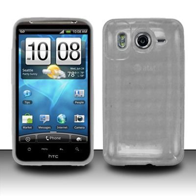 Crystal Clear Checker TPU Skin Protector Cover Case for HTC Inspire 4G (AT&T) (Checkers Handheld)