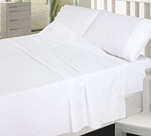 "USA SHEETS Hotel Collection 4-PCs Bed Sheet Set Egyptian Cotton 600 Thread Count Sateen Solid 9"" Inches Deep Pocket (King Size, White)"