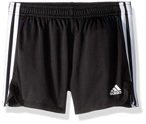 adidas Girls' Big Athletic Shorts, Black YTH, Large