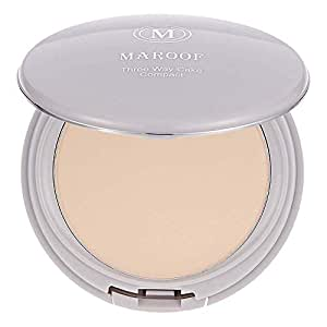 Three Way Cake Wet and Dry Compact Foundation by Maroof - 01 Beige