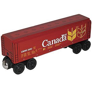 Canada Wheat Covered Hopper - Wooden Toy Train by Whittle Shortline (Canada Covered Hopper)