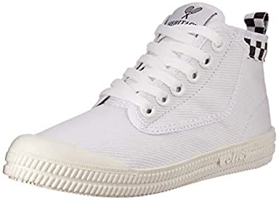 Volley Heritage HIGH LEAP Unisex Casual Shoe, Chequer Print, 3 US