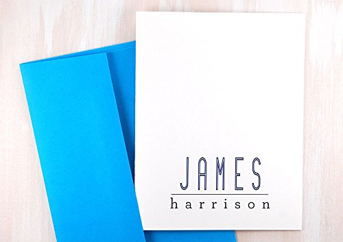 Groom Gift Ideas, Thank You Note Cards Personalized Stationery Set, Mens Birthday Gift, Custom Stationary For Men, Executive Desk Set of 10 - Executive Stationery