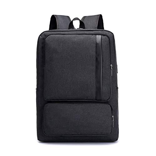 black school backpack for boy laptop bag 15.6 business men travel bags student notebook backpack waterproof USB bag,black (Best Laptops For Law Students 2019)
