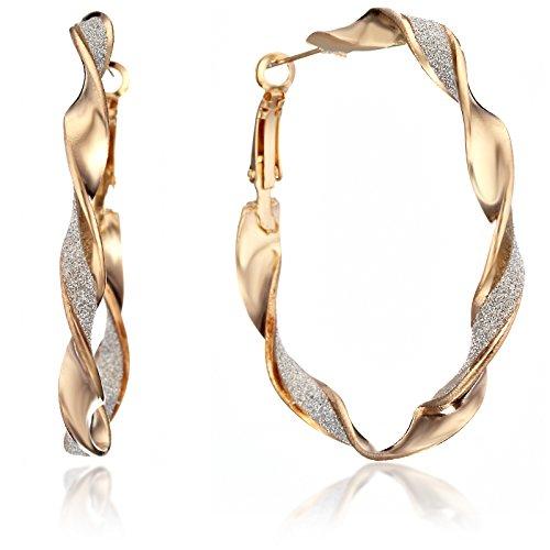 GEMINI JEWELRY Women Jewellery Large Twisted Infinity Large Big Round Hoop Earringss Gm150, Size: 2