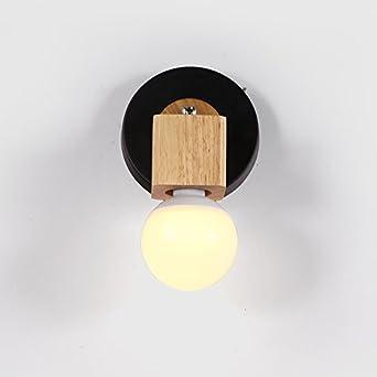 Vinteen Simple Crativit Lampe Murale En Bois Chambre Cosy De Chevet Couloir Balcon Salon Lumires