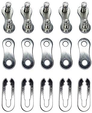 30 Pcs//bag Stainless Steel Bike Chain Master Link Joint Connector WjHWf @ami