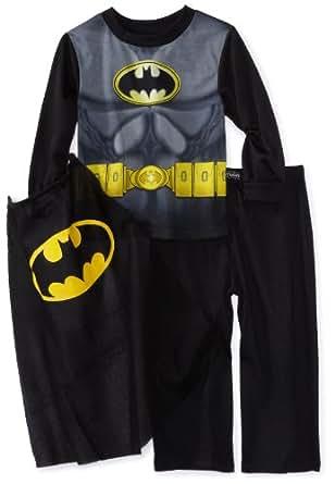 Ame Sleepwear Little Boys' Modern Bat Suit with Cape, Multi, 4T