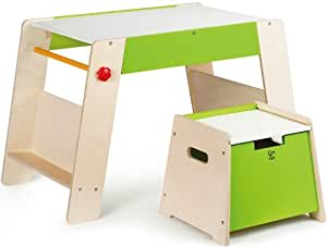 Award Winning Hape Early Explorer Play Station and Stool Set with Art Easels and Accessories