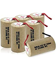 BAOBIAN SubC Sub C 3400mAh 1.2V Ni-CD Rechargeable Battery Cell with Tabs for Power Tools