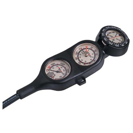 Promate Scuba Diving Gauge Console Tank Pressure Depth Compass Temperature (Made in Italy) by Promate