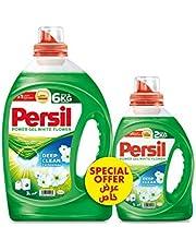 Persil Power Gel Liquid Laundry Detergent, White Flower - 3 Litres + 1 Litre