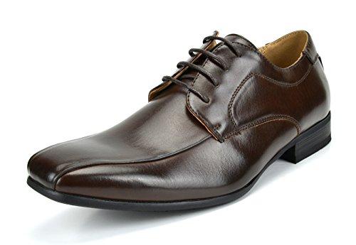 Bruno Marc Men's Gordon-05 Dark Brown Classic Modern Formal Oxfords Lace Up Leather Lined Snipe Toe Dress Shoes - 10.5 M US (Best Men's Walking Shoes For Europe)