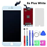 GAVATE39 Compatible for iPhone 6S Plus 5.5 inch WHITE - LCD Digitizer Touch Screen Replacement