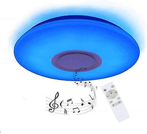 colore RGB cambia musica Smart plafoniera rotonda per cameretta bambini regalo cucina /Ø40cm 24W LED plafoniera dimmerabile bar con telecomando e altoparlante Bluetooth controllo APP