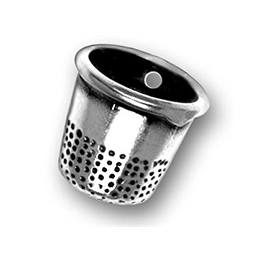 Sterling Silver Thimble Charm Item #340 3D Sewing Charm by CharmCountry