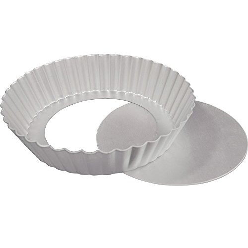 Fat Daddio's Fluted Tart Pan 12 Inch x 2 Inch Removable Bottom