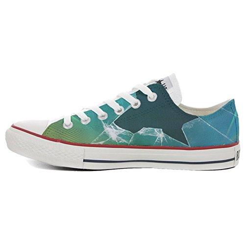 Coutume Imprimés Artisanal Italien Broken produit Unisex Converse Personnalisé Sneaker All Star Chaussures Et x1fY1n