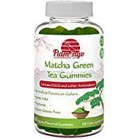 Flamingo Supplements - Matcha Green Tea Extract Gummy Vitamin with EGCG. Increase Focus, Metabolsim Booster, Weight Loss & Fat Burner. Vegan Friendly, Gluten-Free, Non-GMO, Kosher and Halal. 60 ct