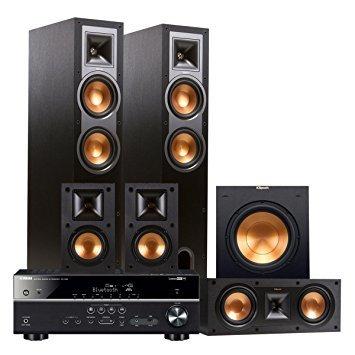 Yamaha RX-V481 5.1-Channel AV Receiver with Klipsch R-26F 5.1 Reference Floorstanding Speaker Package (Black)
