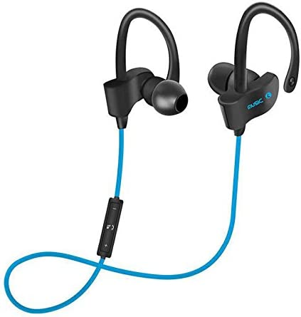 56S – Bluetooth Headphones Runner Headset Sport Earphones with Mic and Lifetime Sweatproof Guarantee – Wireless Earbuds for Running, Blackout Blue