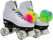 Epic Skates Allure07 Allure Light-Up Quad Roller Skates, White