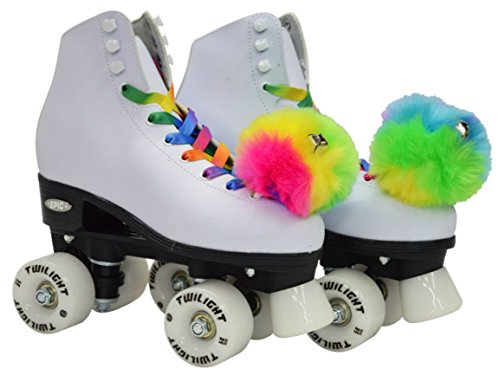 Epic Skates Epic Allure Light-Up Quad Roller Skates, White ()