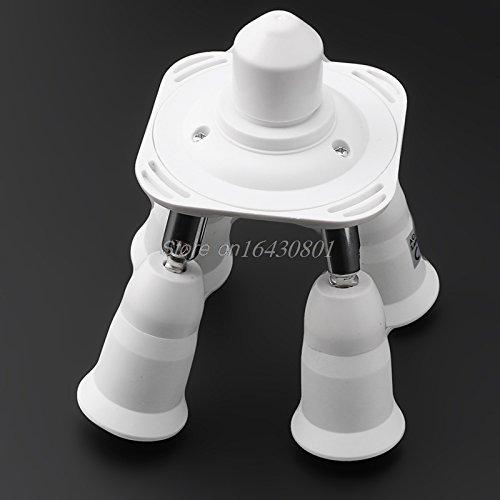 Adjustable Base Light E27 Lamp Adapter Bulb Holder Socket Splitter 3/4/5 In 1#K4U3X# 4 in 1