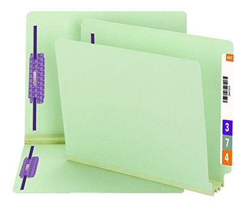 (Smead End Tab Pressboard Fastener File Folder with SafeSHIELD Fasteners, 2 Fasteners, 3
