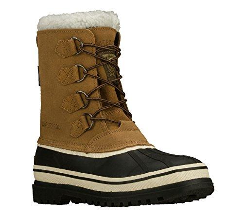 Skechers USA Men's Revine Hopkin Snow Boot,Black/Khaki,9 M US (Leather Khakis Skechers)