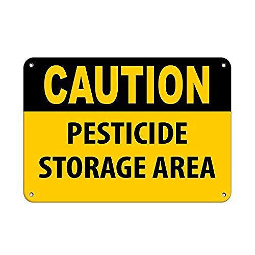 注意農薬保管エリア 金属板ブリキ看板注意サイン情報サイン金属安全サイン警告サイン表示パネル