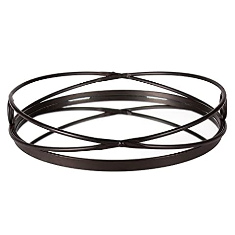Kate and Laurel Delray Bronze Metal Mirrored Round Decorative Tray (Round Tray For Ottoman)