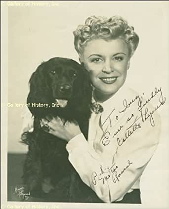 COLLETTE LYONS - INSCRIBED PHOTOGRAPH SIGNED