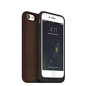 mophie charge force case - Made for iPhone 7 - Works with Qi and Other Wireless Charge Systems- Not a Battery Case - Brown