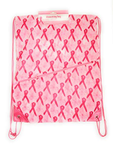 Breast Cancer Awareness Drawstring Backpack Survivor Patient With Towel Various Colors Pink White (Set of 2)