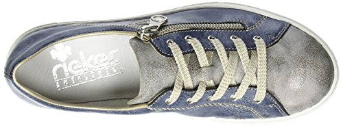 Rieker L0943, Sneakers Basses Femme Bleu (Grey/Jeans)