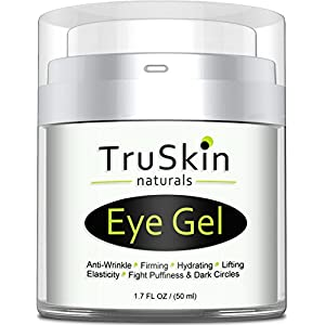 Best Eye Gel for Wrinkles, Dark Circles, Under Eye Puffy Bags, Crepe Eyes, Super Eye Cream Moisturizer Serum for Men & Women – 1.7 fl oz