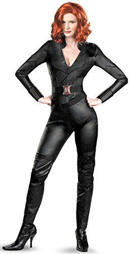 [Disguise Marvel's Avengers Movie Black Widow Avengers Deluxe Adult Costume, Black, X-Large/(18-20)] (Black Widow Costume Marvel)