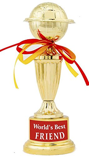 buy world best friend trophy award gift by aark india 10 inch