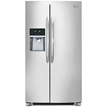 Frigidaire FGHS2631PF Gallery 26.0 Cu. Ft. Stainless Steel Side-By-Side Refrigerator - Energy Star ...