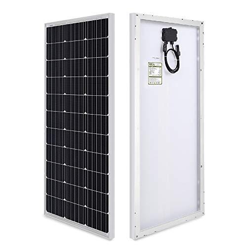 HQST 100 Watt 12 Volt Monocrystalline Solar Panel (Best 12 Volt Solar Panels)