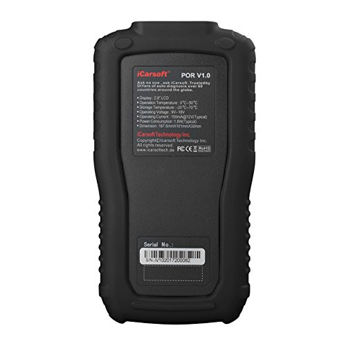 iCarsoft Auto Diagnostic Scanner POR V1.0 for Porsche with Airbag Scan,Oil Service Reset ect by iCarsoft (Image #2)