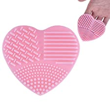 1 PC Makeup Brush Cleaner Pink Heart Shape Finger Glove Silicone Cosmetic Clean Tools Ideal for Travel by DAXUN