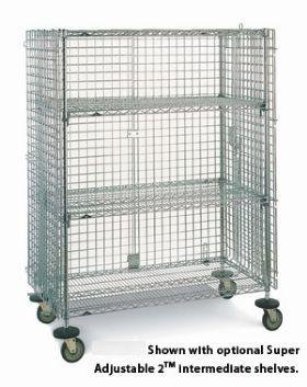 - Storage Solutions, Metro Super Erecta Mobile Security Cages, Mec-Chr-G, D X W X H: 33 1/2 X 40 3/4 X 68 1/2, Order This Size Shelf: 30 X 36, Hsec63Ec