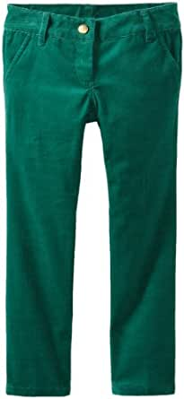 Brooks Brothers Little Girls' Corduroy Skinny Pant, Dark Green, 4