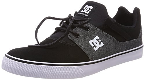 DC Shoes Heathrow Vulc Se, Sneaker Uomo Schwarz (Black/Dk Grey Bkd)