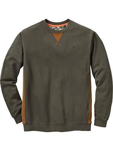 (Legendary Whitetails Men's Estate Crew Neck Sweatshirt Army Large)