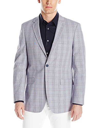 - U.S. Polo Assn. Men's Fancy Cotton Sport Coat, Derby Check TIM8906J Red/White/Blue, 44 Regular