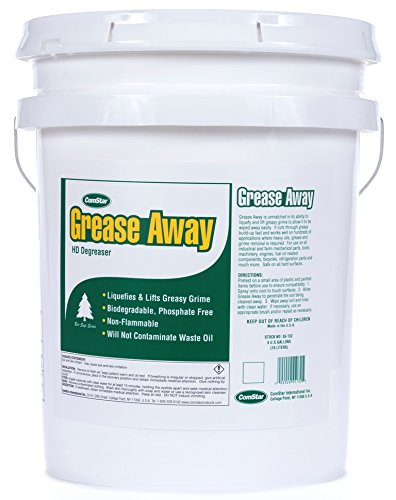 ComStar 55-132 No - Rinsing Low Foam Ready-to-Use Degreaser, Grease Away - Heavy Duty, 5 gal Pail, White