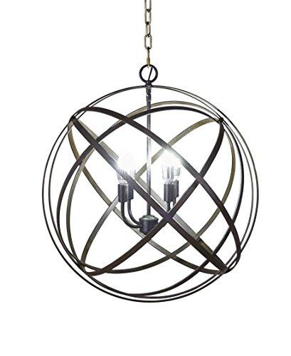 Black Sphere Pendant Light in US - 4